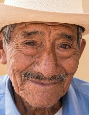 A Panamanian man - citizen wearing a cowboy hat