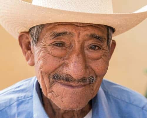A Panamanian man - citizen wearing a cowboy hat