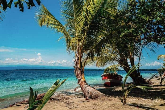 Beach scene in Panama