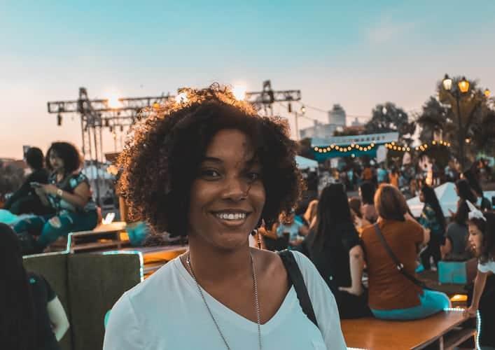 A panmanian citizen smiling in Panama City