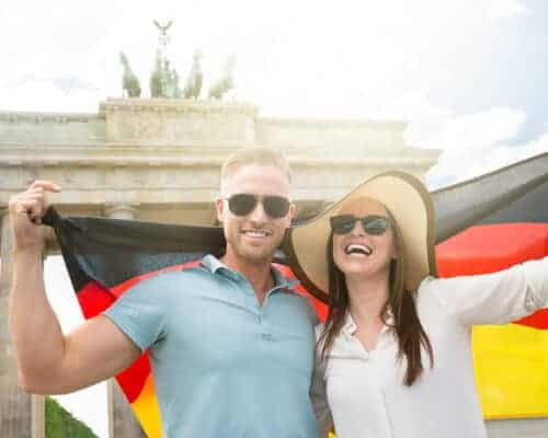 Couple who have just got citizenship of Germany