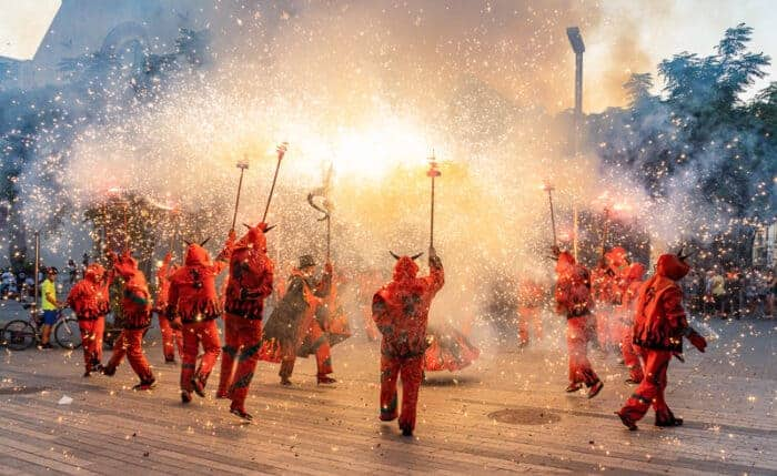 Fireworks festival in Spain