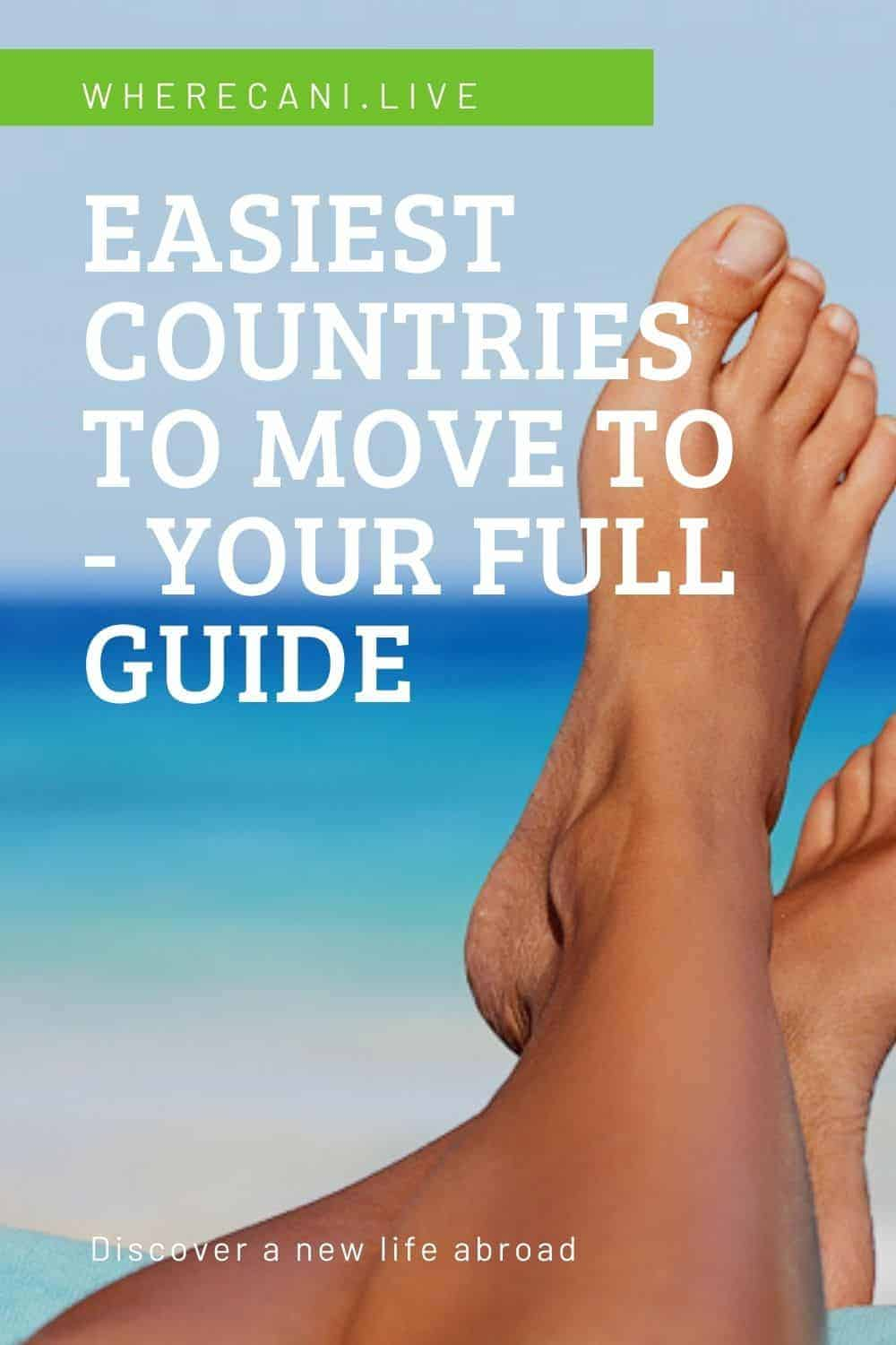 Here is a full guide on the easiest countries to move to.  #moveabroad #expat #expatlife #relocation #abroad via @wherecanilive