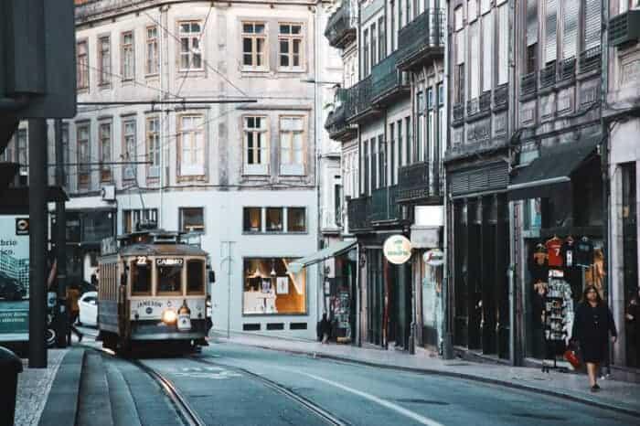 Street Car in Lisbon, Portugal