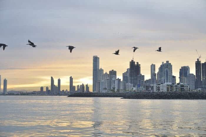 Beautiful Panama city skyline