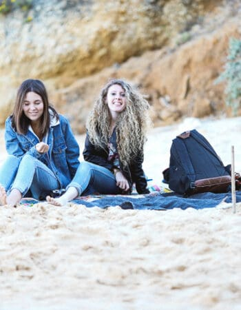 Girls on the beach in Portugal