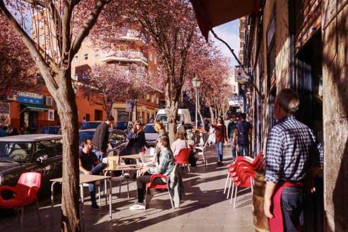 Cafe scene in Spain