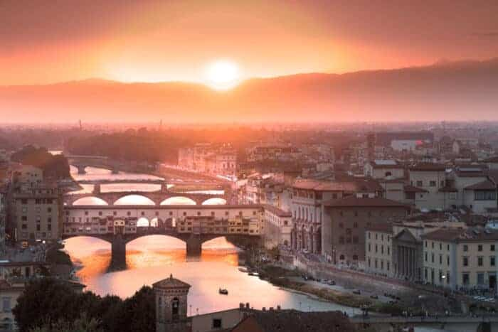 View over Florence Italy