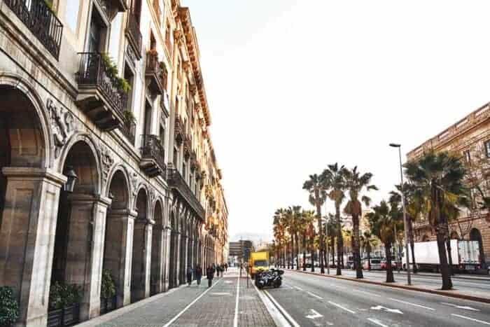 Buildings in Barcelona, Spain