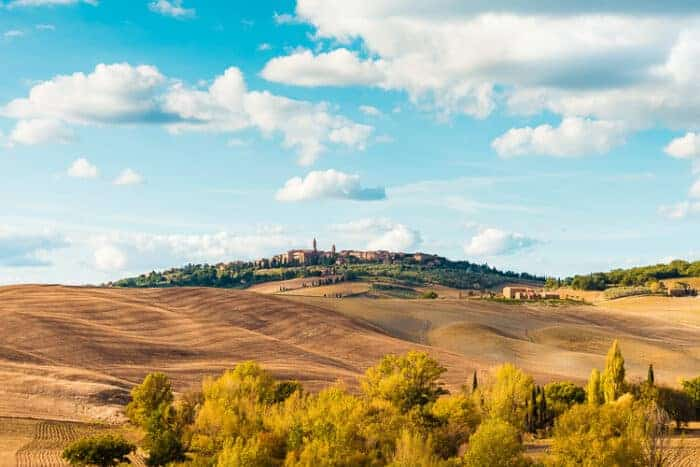 A landscape view of Tuscany