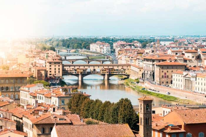 A view of the city of Florence in Italy