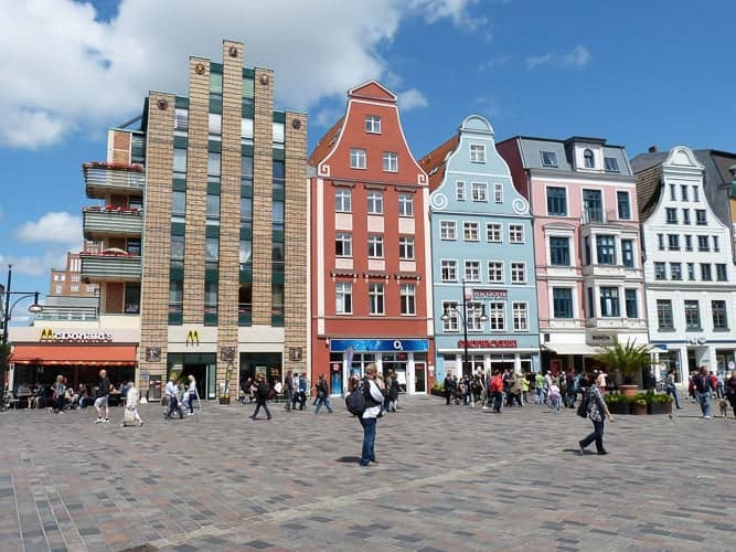 Buildings in a town in Germany