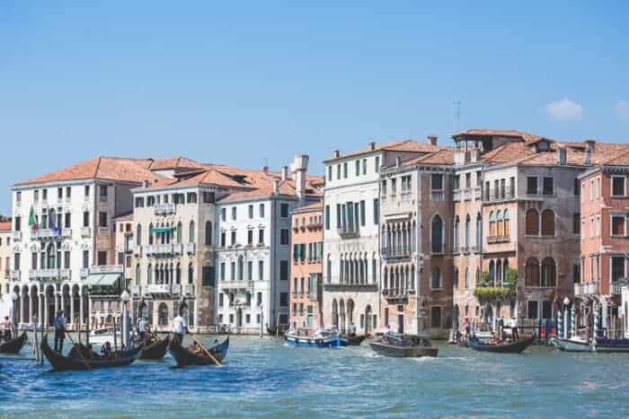 A view of buildings in Venice, Italy