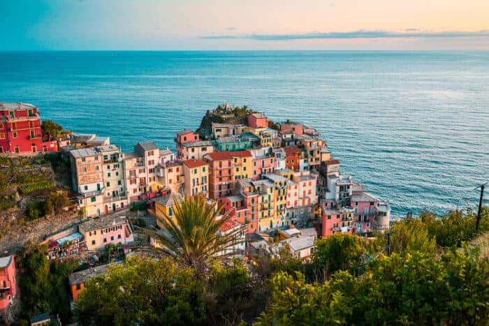 View of a beautiful town in Italy