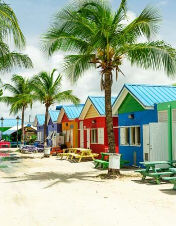 Colourful houses in Barbados