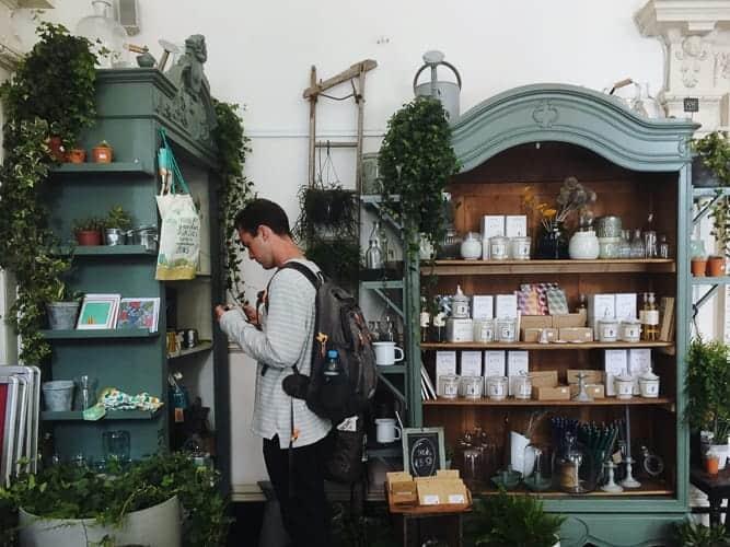 A man living in Ireland in a cute shop in Dublin