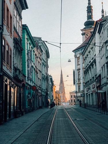 Beautiful Street Scene in Olomouc, Czechia