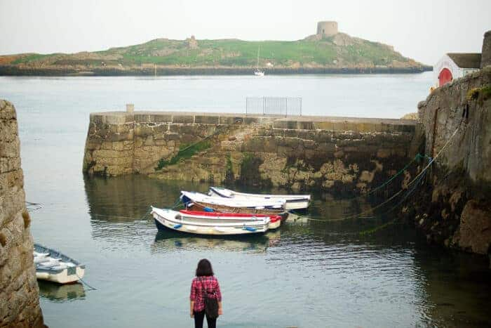 Boats in a harbour in Ireland