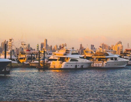 The Port and some yachts in Panama City