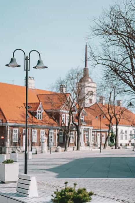 Some beautiful buildings in Tallinn, Estonia.