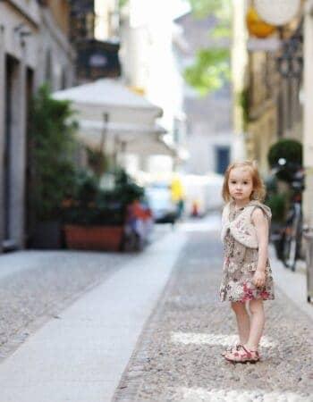 Girl in the street, living in France