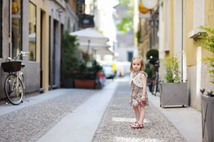 A little girl who is living in France