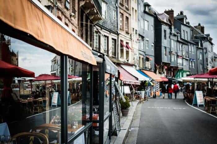 A french street scene