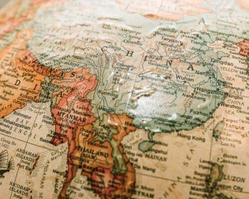 A globe showing countries where you can get dual citizenship