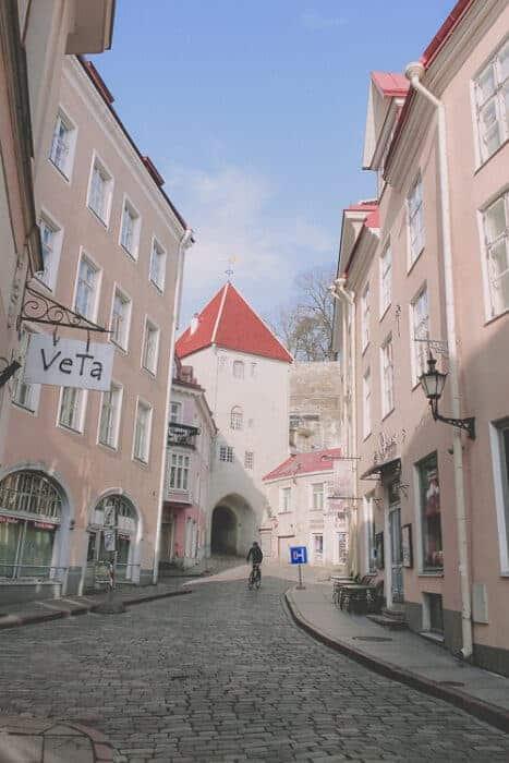 Beautiful buildings in Estonia