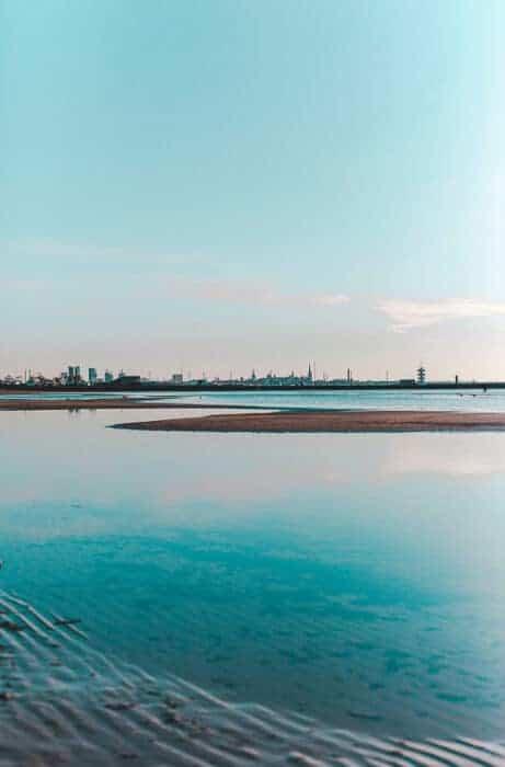 Landscape view of Tallin in Estonia