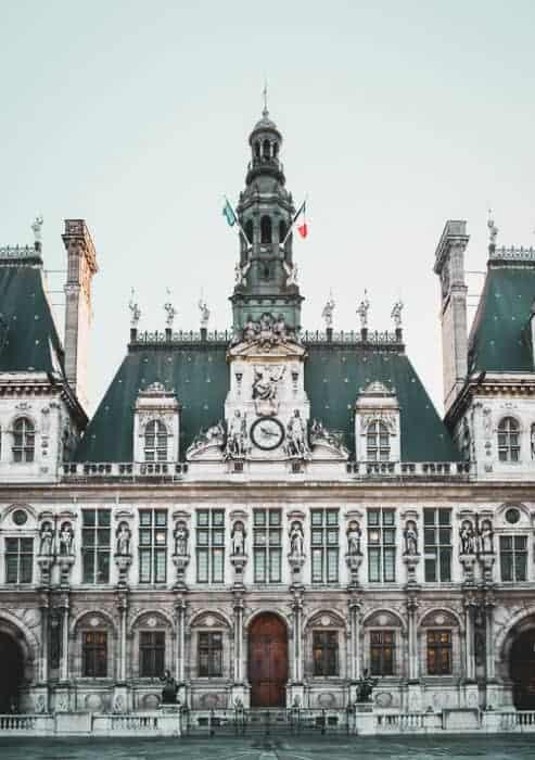 Beautiful building in Paris, France