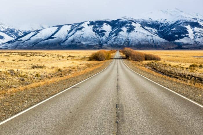 Road and mountains in Argentina