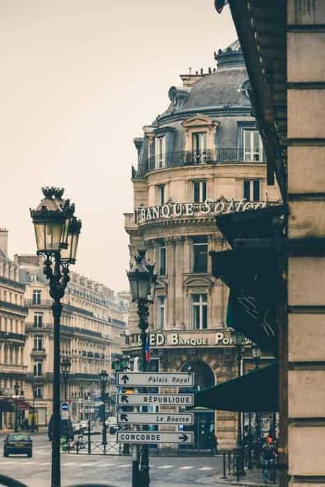 Beautiful buidings in Paris, France